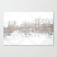 Winterpool Canvas Print