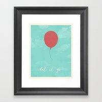 LET IT GO - RED BALLOON Framed Art Print