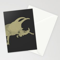 All lines lead to the...Inverted Rhino Beetle Stationery Cards