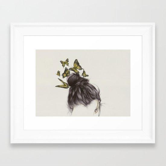 Hair II Framed Art Print