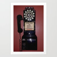 Public Telephone - Case Art Print