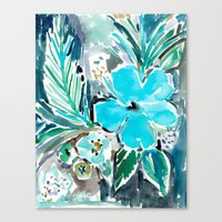 BLUE HAWAII HIBISCUS Canvas Print