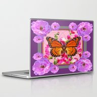Laptop & iPad Skin featuring Puce-Purple-Pink Floral … by SharlesArt