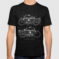Motorcycle Blueprint Mens Fitted Tee Tri-Black SMALL