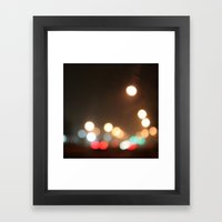 Fog Street Square Framed Art Print