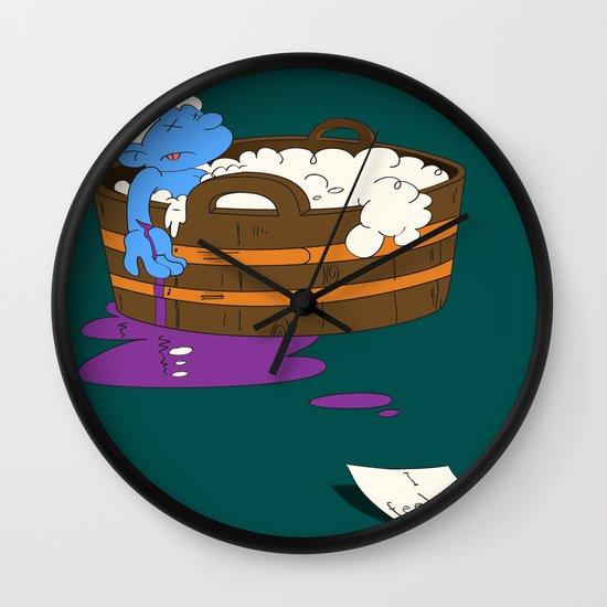 SUICIDAL SMURF  Wall Clock