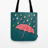 It's Raining, It's Pouri… Tote Bag