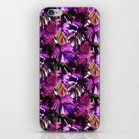 Palm Leaf Purple Pink iPhone & iPod Skin