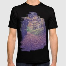 Mountain Path Mens Fitted Tee Black SMALL