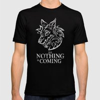 The Nothing is Coming  Mens Fitted Tee Black SMALL