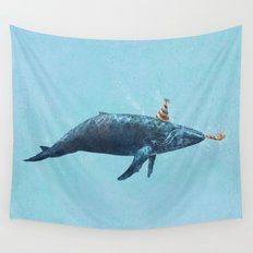 Party Whale  Wall Tapestry