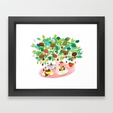 Coffee time Framed Art Print