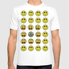 Attack of the Zombie smiley! SMALL White Mens Fitted Tee
