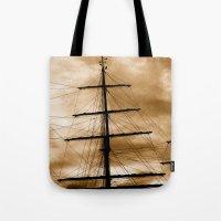 Tall ship mast Tote Bag