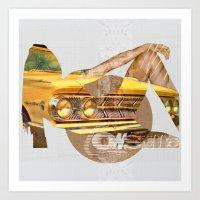 My Egoistic Dreams - Yel… Art Print