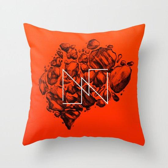 Old School Rocks (Orange Rock Version) Throw Pillow