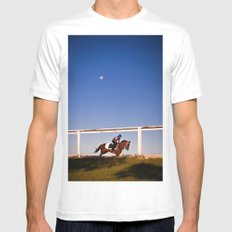 A rider and a horse Mens Fitted Tee SMALL White