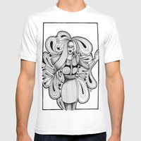 Wooden Swirls Mens Fitted Tee White SMALL