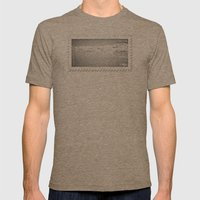 Blocking Rays Mens Fitted Tee Tri-Coffee SMALL