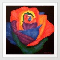 Through Rainbow Colored … Art Print