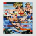 Glitch Pin-Up: Taylor & Tiffany Canvas Print