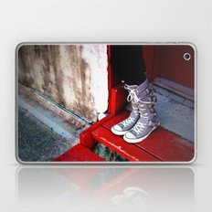 Goth Girl Shoes Laptop & iPad Skin