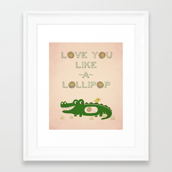 Like A Lollipop Framed Art Print
