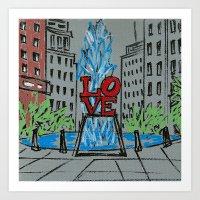 Little Love Park Sketch Art Print
