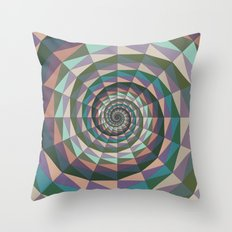 Geometric Spiral Throw Pillow