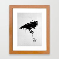 A Crow Framed Art Print