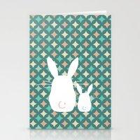 Bunny / Vintage pattern #2 Stationery Cards