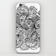 B&W Floral Indian Pattern iPhone & iPod Skin