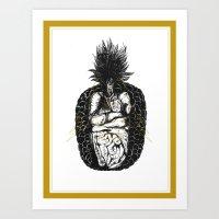 《魚蘿果的食素夢… Art Print