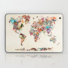 world map watercolor deux Laptop & iPad Skin