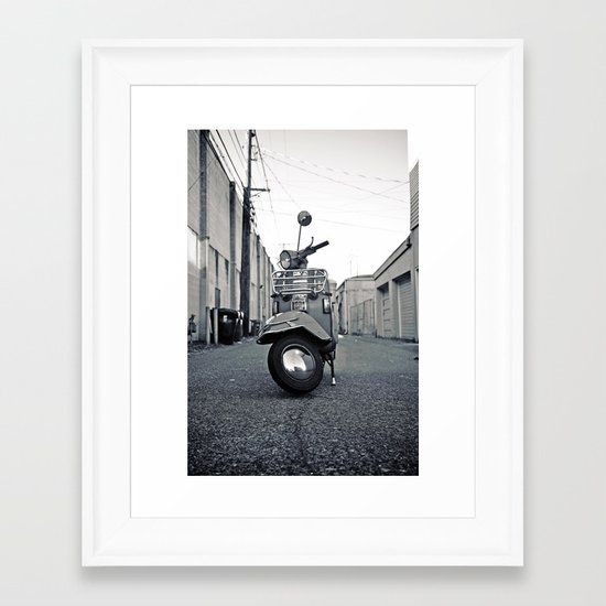 Urban Vespa Framed Art Print