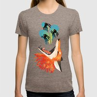 The Hunt Womens Fitted Tee Tri-Coffee SMALL