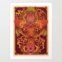 Burning Totem Art Print