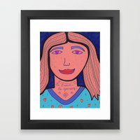 Be Brave.  Be Yourself! Framed Art Print