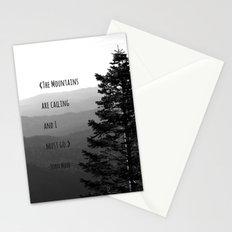 The Mountains are Calling and I must go - John Muir Stationery Cards