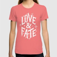 Love & Fate Womens Fitted Tee Pomegranate SMALL