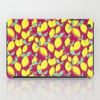 Lemon and pink iPad Case