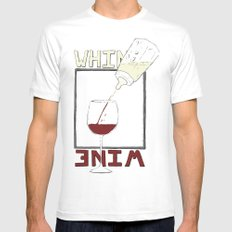 Whine to Wine Mens Fitted Tee SMALL White