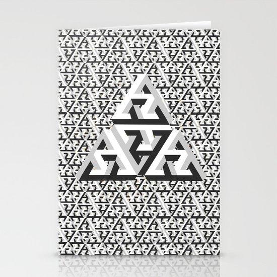 Escher Pattern Stationery Card