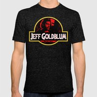 JURASSIC GOLDBLUM Mens Fitted Tee Tri-Black SMALL
