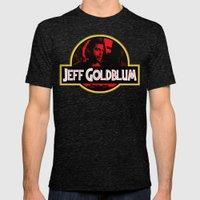 JURASSIC GOLDBLUM Mens Fitted Tee Tri-Black SMALL