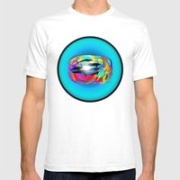 Dolphins Mens Fitted Tee White SMALL