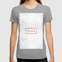 Modern Hustle Typography… Womens Fitted Tee Tri-Grey SMALL