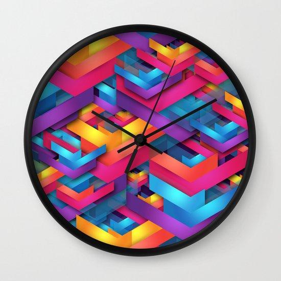 Own Luck Wall Clock