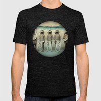 the diving bell Tuba quintet Mens Fitted Tee Tri-Black SMALL