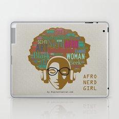 Afro Nerd Girl (Colours) Laptop & iPad Skin